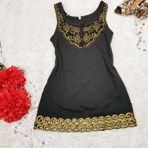 Free People Dresses & Skirts - Free people embriodery black dress size 4
